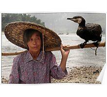 Cormorant Fishing on the Li River Poster