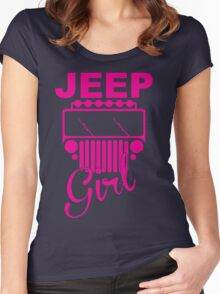 Jeep Girls  Women's Fitted Scoop T-Shirt