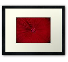 Red Bed. Framed Print