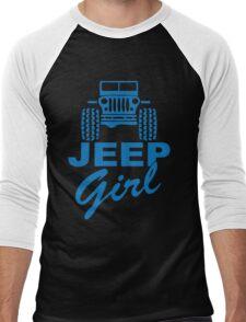 Jeep Girl Blue Men's Baseball ¾ T-Shirt