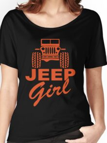 Jeep Girl Orange Women's Relaxed Fit T-Shirt