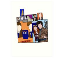 Doctor who collage  Art Print