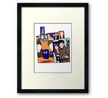 Doctor who collage  Framed Print