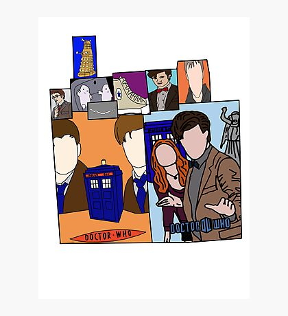 Doctor who collage  Photographic Print