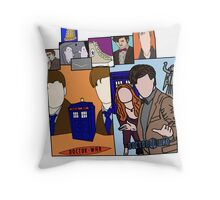 Doctor who collage  Throw Pillow