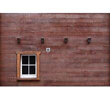 Swiss precision chalet construction Photographic Print