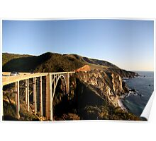 Bixby Bridge - Near Big Sur California Poster