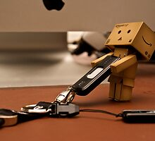 Danbo tries to steal my USB pen by the-sandman