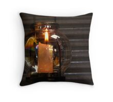 reflections on a candle holder Throw Pillow