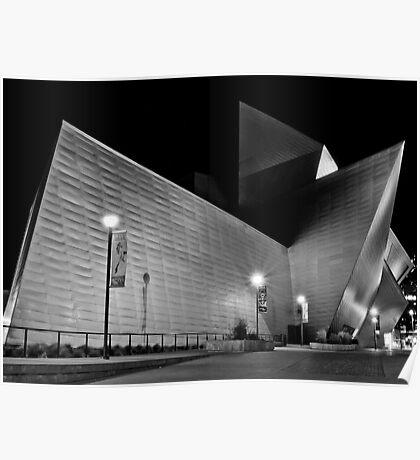 Denver Art Museum at Night Poster