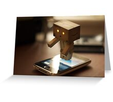 Danbo tries to use my iPhone Greeting Card