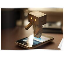 Danbo tries to use my iPhone Poster