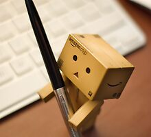 Danbo helps me sign some papers by the-sandman