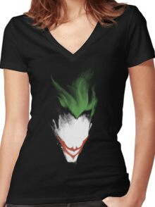 The Dark Joker Women's Fitted V-Neck T-Shirt