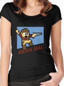 (MegaMan Firefly) Mega Mal Reynolds Shirt 8-bit Women's Fitted Scoop T-Shirt