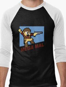(MegaMan Firefly) Mega Mal Reynolds Shirt 8-bit Men's Baseball ¾ T-Shirt