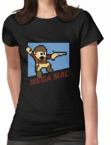 (MegaMan Firefly) Mega Mal Reynolds Shirt 8-bit Womens Fitted T-Shirt