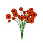 Cheerful Robotic Poppies by Peter Kappus