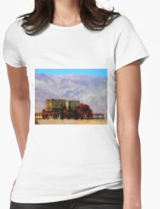 MULE TRAIN ~ DEATH VALLEY Womens Fitted T-Shirt