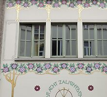 Windows, Ghent, Belgium by Margaret  Hyde