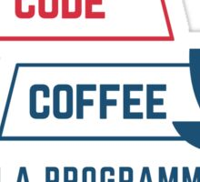 programmer : coffee and code Sticker