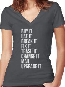 Technologic (white) Women's Fitted V-Neck T-Shirt