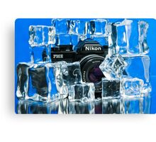 Nikon on Ice Canvas Print