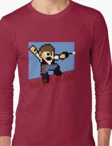 (MegaMan Shirt) Mega Han Shirt 8-bit Long Sleeve T-Shirt