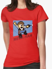 (MegaMan Shirt) Mega Han Shirt 8-bit Womens Fitted T-Shirt