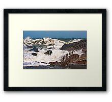 Wild Sea on Wildersmouth Beach Framed Print
