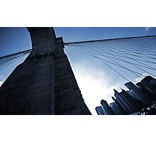 Falling Lines - Brooklyn Bridge II Photographic Print