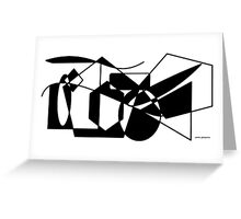 Geometric Black & White Shapes Greeting Card