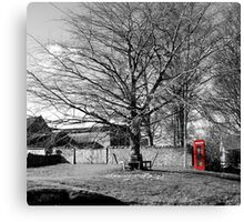 The Village Green at Cold Kirby Canvas Print