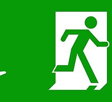 ISO 21542, ISO 7010 Exit Sign with Wheelchair Symbol by Egress Group Pty Ltd