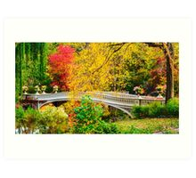 Autumn in Central Park, Study 1 Art Print