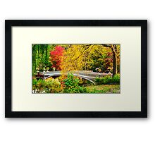 Autumn in Central Park, Study 1 Framed Print