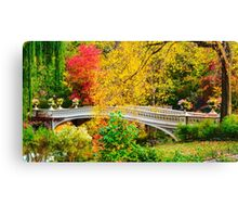 Autumn in Central Park, Study 1 Canvas Print