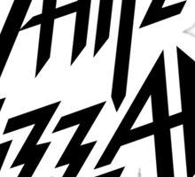 white wizzard band Sticker