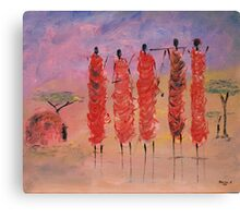 Masai Village Canvas Print