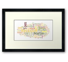 The Life and Adventures of Martin Chuzzlewit Framed Print