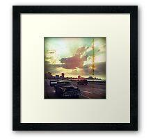 'Sunset Malecón' Framed Print