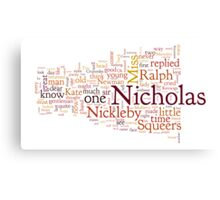 The Life and Adventures of Nicholas Nickleby Canvas Print
