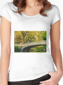 Autumn in Central Park, Study 2 Women's Fitted Scoop T-Shirt