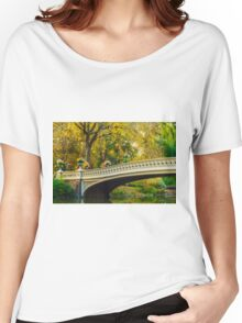Autumn in Central Park, Study 2 Women's Relaxed Fit T-Shirt