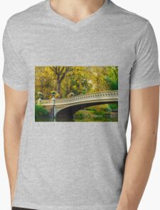 Autumn in Central Park, Study 2 Mens V-Neck T-Shirt