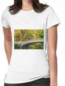 Autumn in Central Park, Study 2 Womens Fitted T-Shirt