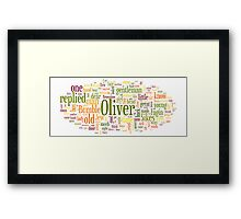 The Adventures of Oliver Twist Framed Print
