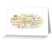 The Adventures of Oliver Twist Greeting Card