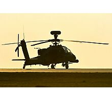 AH-64 Sunset Photographic Print