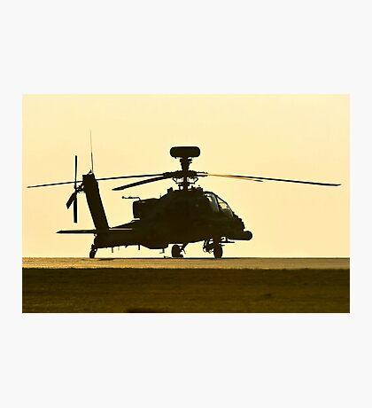 AH-64 Sunset Photographic Print